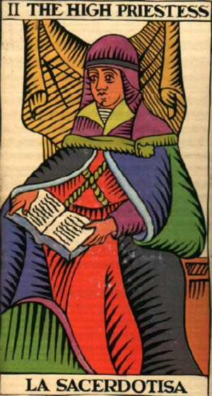 carta tarot la sacerdotisa